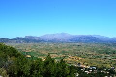 Greece, island Crete view from mount panorama Royalty Free Stock Image