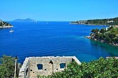 Greece,island Ithaki-view of the island Atokos. View of the island Atokos from seacoast near town Kioni on the island of Ithaki in Greece Royalty Free Stock Image