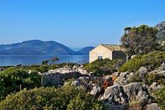 Greece,island Ithaki-view of the seacoast near Kioni. View of the seacoast near town Kioni on the island of Ithaki in Greece Stock Image