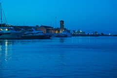 Greece island port night Stock Photography