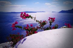 Greece the island of Santorini stock image