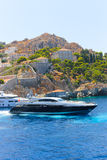 Greece island - Yacht royalty free stock photo