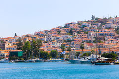 Greece islands. Aug. 15 2014  Cruise trip to Hydra island - Greece islands Royalty Free Stock Photo