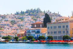 Greece islands. Aug. 15 2014  Cruise trip to Hydra island - Greece islands Royalty Free Stock Image