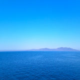 Greece from the   islands in mediterranean sea and sky Stock Images