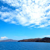 Greece from the   islands in mediterranean sea and sky Royalty Free Stock Photo