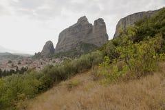 Greece. Kalambaka and Meteora Rocks Stock Photos