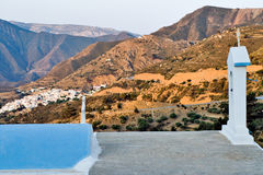 Greece Karapathos island Aperi village. View of Aperi village in the center of Karpathos stock photo