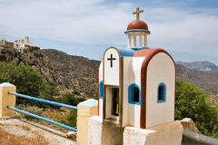 Greece Karapathos island Menetes village. Menetes Is an isolated village on the east coast of karpathos stock photo