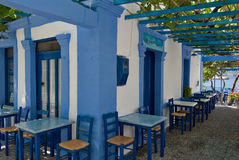 Greece, Karpathos Island Pigadia Town. Old Coffee shop in Pigadia royalty free stock image