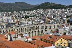 Greece, Kavala, aqueduct stock image