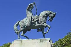 Greece, Kavala, Equestrian Statue Royalty Free Stock Photo