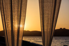 Greece, Kea island - Sunset stock photo