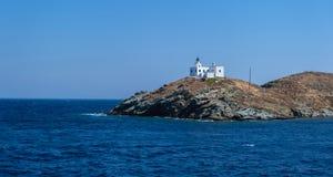 Free Greece, Kea Tzia Island. Seascape With Lighthouse, Clear Blue Sky Stock Photos - 192815713