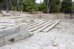 Knossos palace at Crete Stock Photos