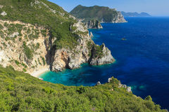 Greece, Korfu island, Paleokastritsa Royalty Free Stock Images