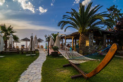 Greece lagoon beach Stock Photography