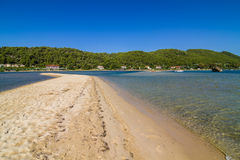 Greece lagoon beach Stock Photography