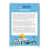 Greece Landmarks and cultural features flat banner design Stock Photography