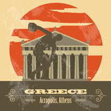 Greece landmarks. Retro styled image Stock Photography