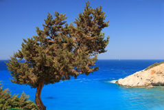 greece lefkas Royaltyfria Foton