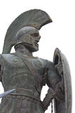 greece leonidas sparta staty Royaltyfria Bilder
