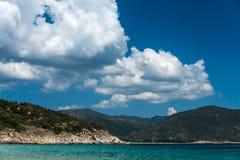 greece liggandehav Arkivfoto