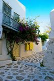 greece lilla mykonos Arkivfoton