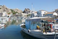 greece limnosmyrina Arkivbilder