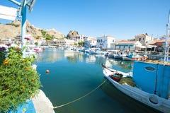 greece limnosmyrina Royaltyfri Fotografi