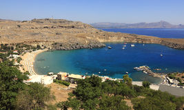 greece lindos Royaltyfri Foto