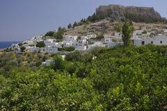 greece lindos Royaltyfria Foton