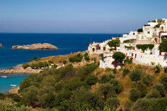 Greece, Lindos. The small town on Rhodes royalty free stock photography