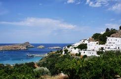 greece lindos rhodes Royaltyfri Bild