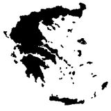 GREECE MAP. Greece vector map silhouette illustration Royalty Free Stock Photo