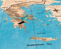 Greece map Royalty Free Stock Photos