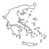 Greece map of black contour curves, vector illustration. Greece map of black contour curves of vector illustration Stock Photos