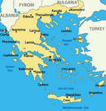 Greece - map of the country - vector Stock Images