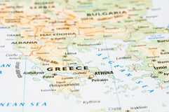 Greece map detail Royalty Free Stock Image