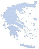 Greece map dots Royalty Free Stock Photos