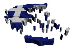 Greece map flag mosaic illustration royalty free illustration