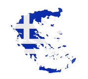 Greece Map Isolated Stock Images