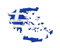 Greece Map Isolated Royalty Free Stock Images