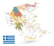 Greece Map Isolated on White Royalty Free Stock Photography