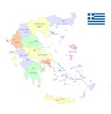 Greece map - cdr format Stock Images