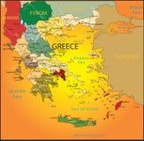 greece mapa Zdjęcie Stock