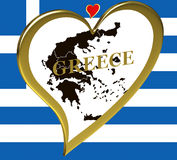 greece mapa Obrazy Royalty Free
