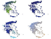 Greece maps Stock Photo