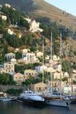 Greece. Mar Egeu. Console Symi (Simi). Imagem de Stock