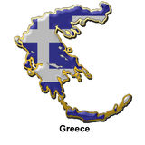 Greece metal pin badge Royalty Free Stock Photos